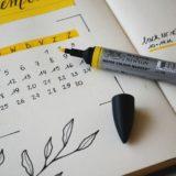 黄色のカレンダー手帳