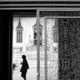 白黒ドイツの玄関ホール